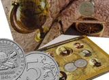 5 рублей Географическое общество-миниальбом
